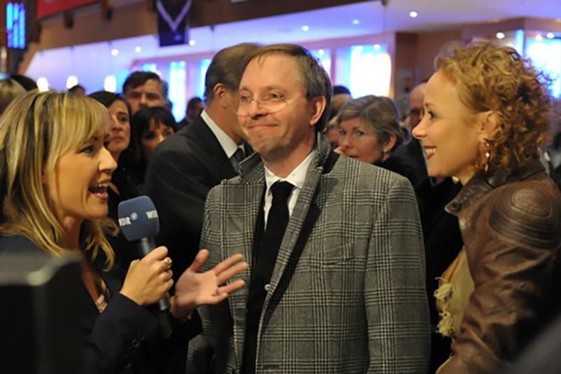 Kinofest Lünen, Sabine Ziemke und die Schauspieler Olli Dittrich und Katja Riemann