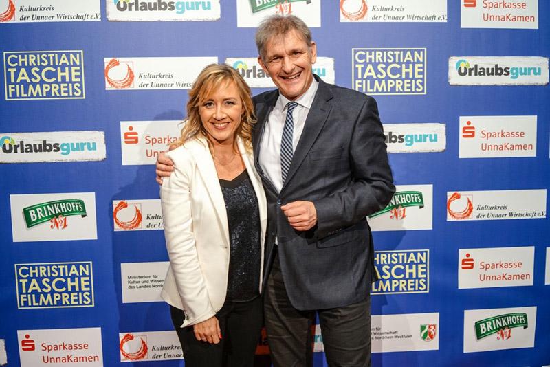 Christian-Tasche Filmpreis-Gala Unna, Sabine Ziemke, Landrat Michael Makiolla