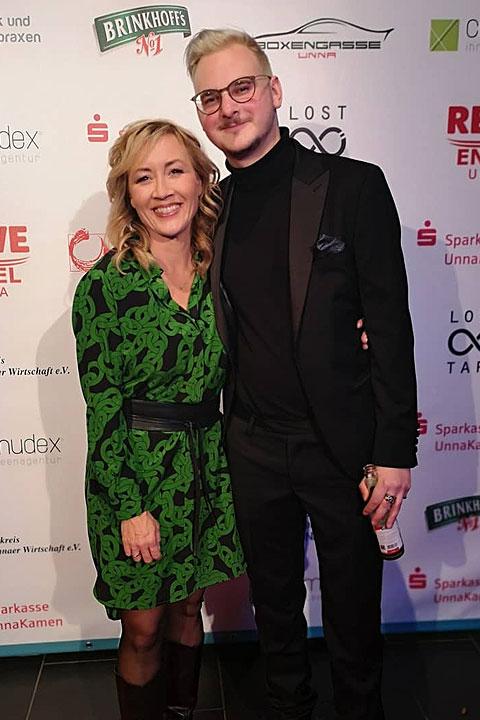 Christian-Tasche-Filmpreis-Gala Unna 2019, Sabine Ziemke, Felix Eller